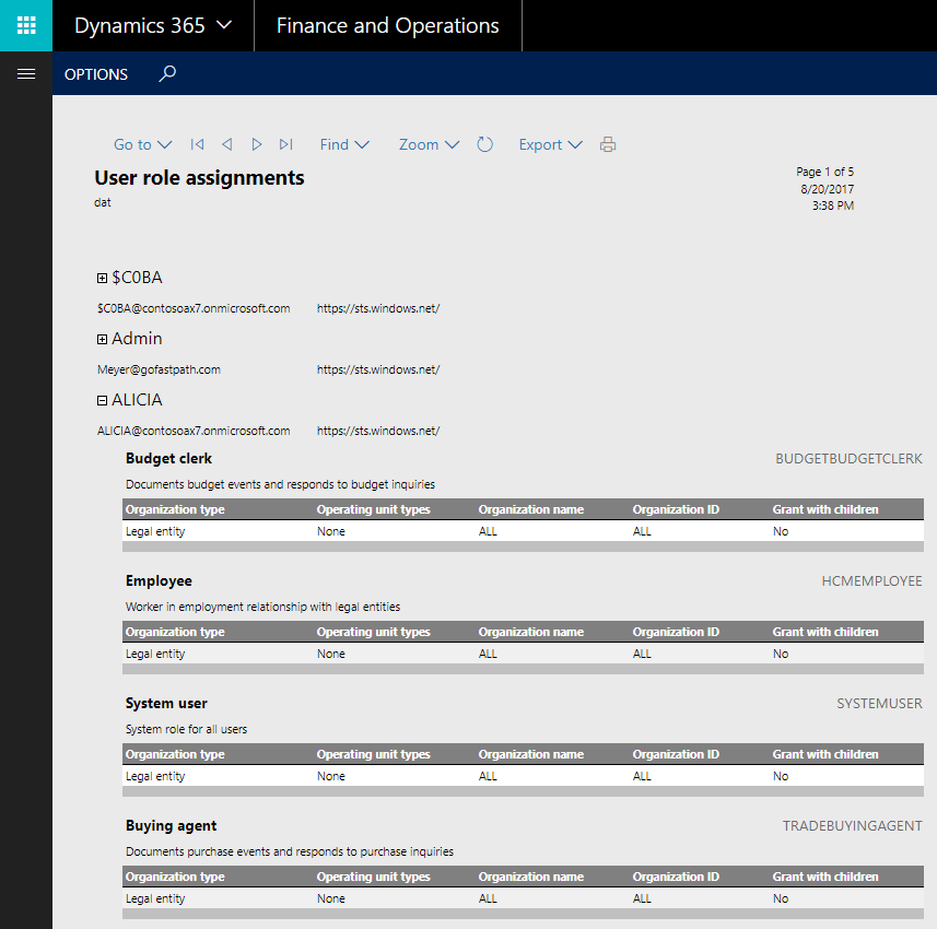 New Out of Box Security Reporting in Dynamics 365 for Finance and